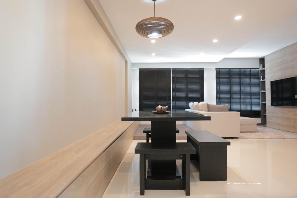 Minimalistic, HDB, Dining Room, Choa Chu Kang (Block 488C), Interior Designer, Forefront Interior, Dining Table, Furniture, Table