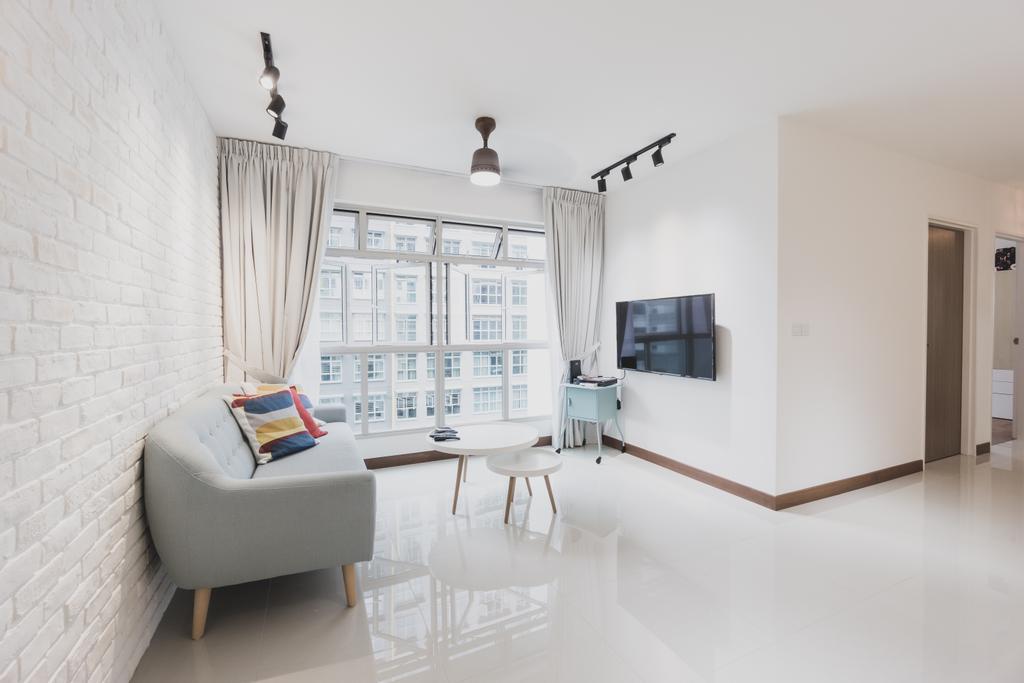 Minimalistic, HDB, Living Room, Compassvale Drive, Interior Designer, Mr Designer Studio, Furniture, Table, Dining Table, Chair