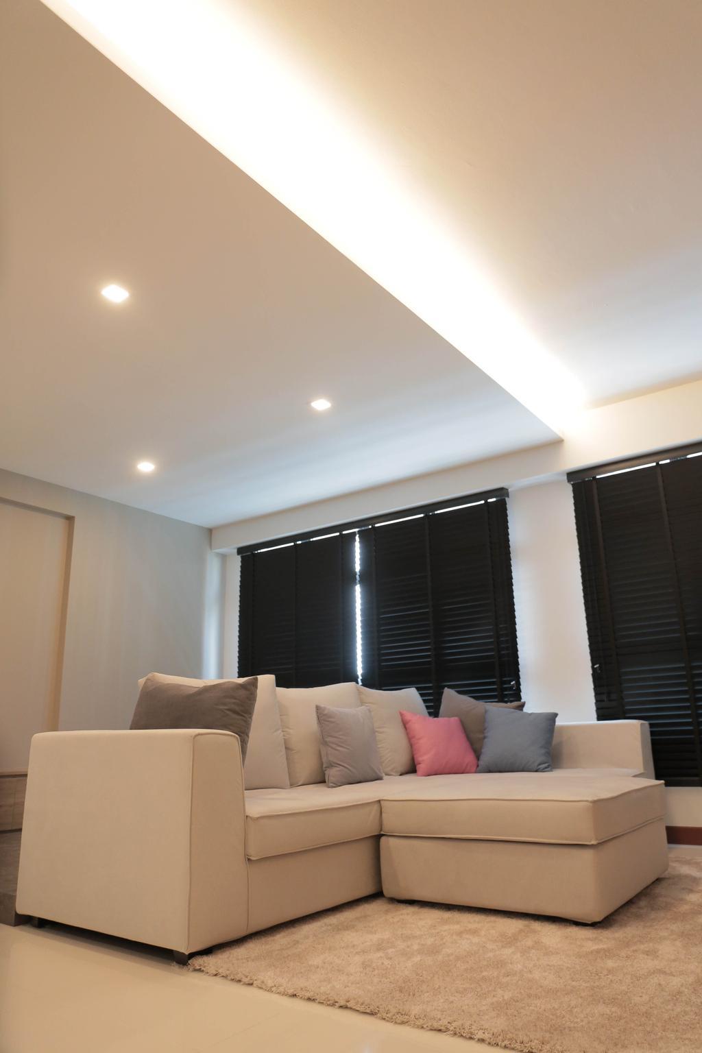 Minimalistic, HDB, Living Room, Choa Chu Kang (Block 488C), Interior Designer, Forefront Interior, Light Fixture