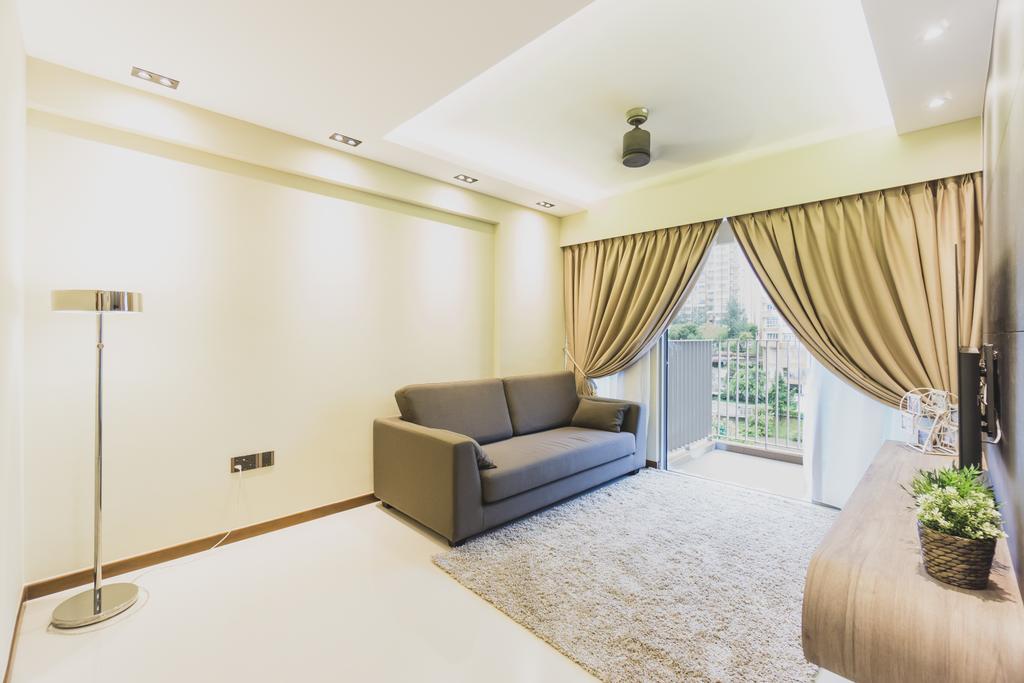 Modern, HDB, Living Room, Edgedale Plains, Interior Designer, Mr Designer Studio, Couch, Furniture, Indoors, Interior Design