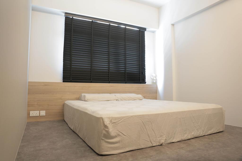 Minimalist, HDB, Bedroom, Choa Chu Kang (Block 488C), Interior Designer, Forefront Interior, Bed, Furniture, Indoors, Interior Design