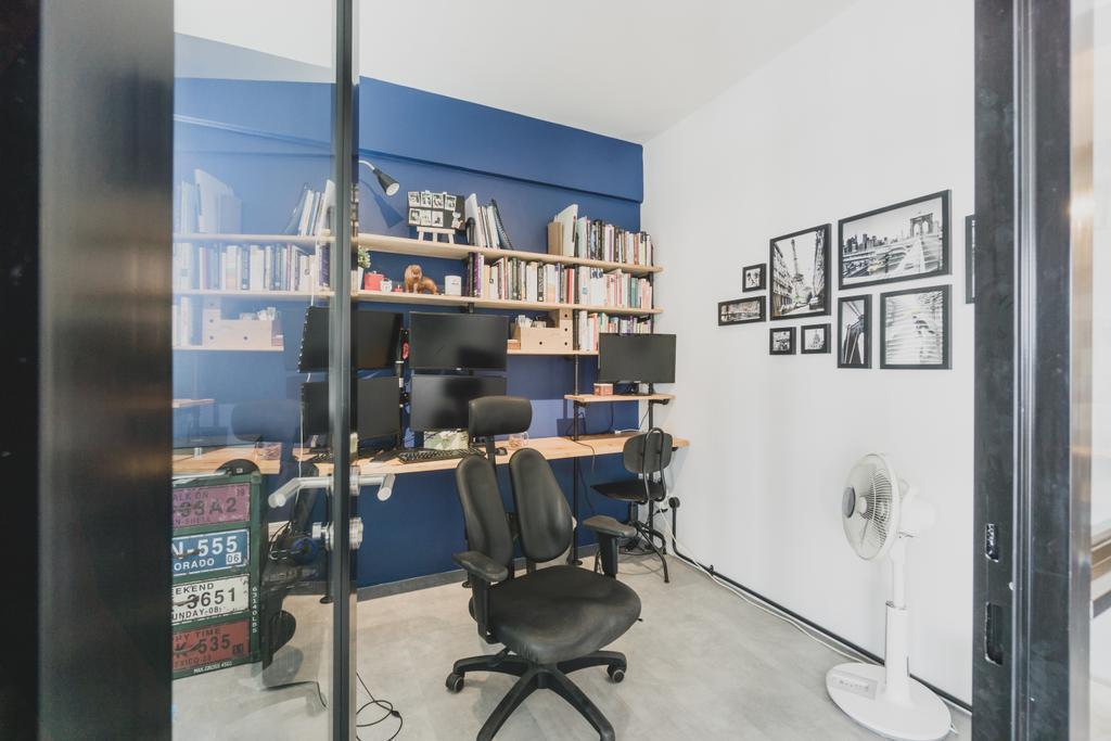 Scandinavian, Condo, Study, Orchid Park, Interior Designer, Mr Designer Studio, Chair, Furniture, HDB, Building, Housing, Indoors, Conference Room, Meeting Room, Room