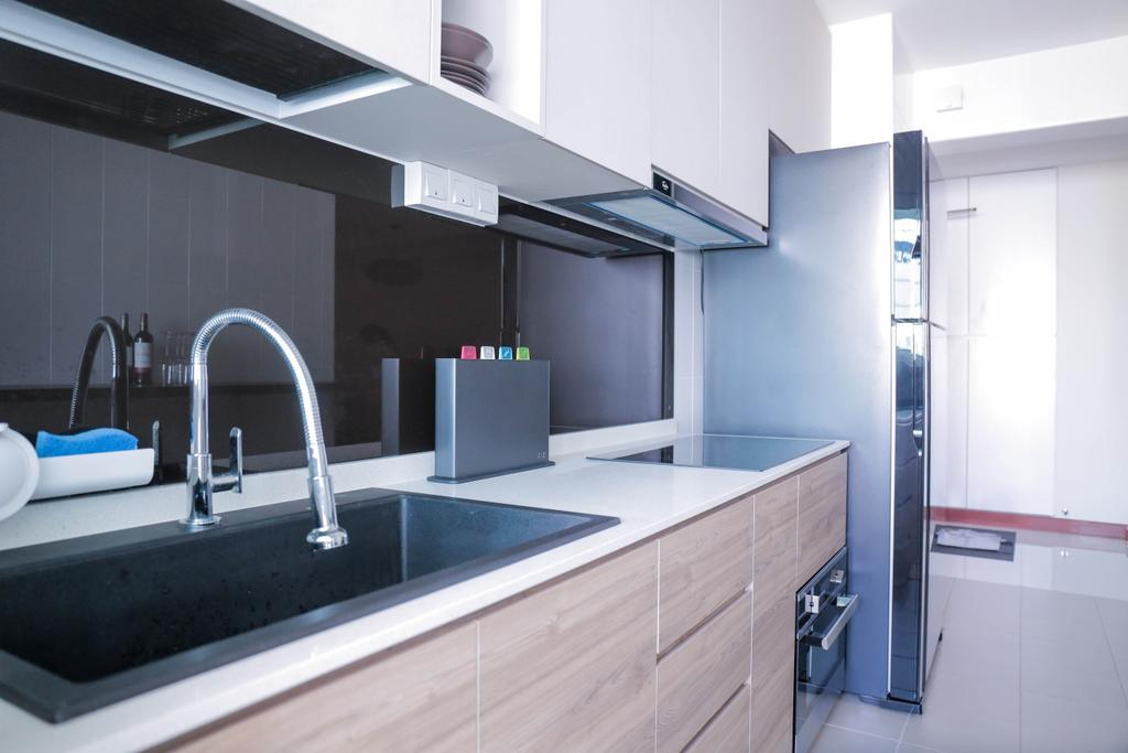 Minimalistic, HDB, Kitchen, Choa Chu Kang (Block 488C), Interior Designer, Forefront Interior, Indoors, Interior Design, Tap