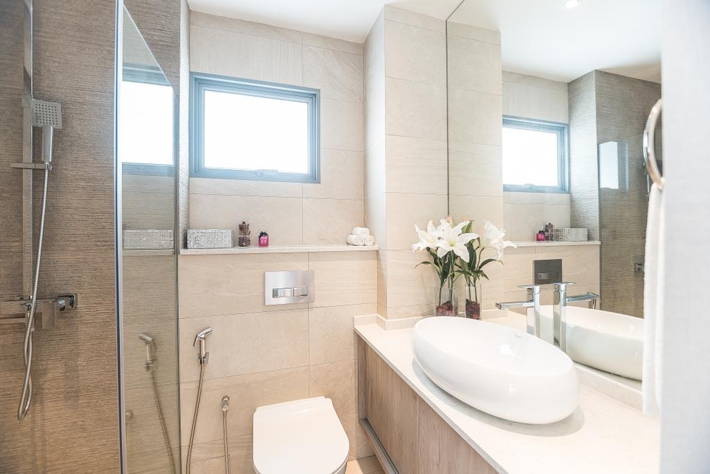 Minimalist, HDB, Bathroom, Pasir Ris Street 12, Interior Designer, Mr Designer Studio, Toilet, Indoors, Interior Design, Room