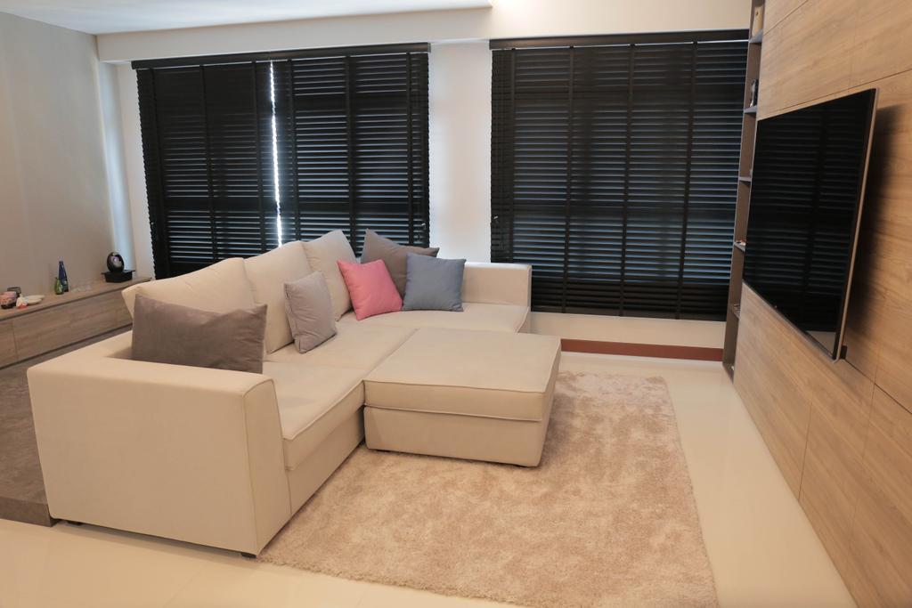 Minimalist, HDB, Living Room, Choa Chu Kang (Block 488C), Interior Designer, Forefront Interior, Flooring, Indoors, Interior Design, Furniture, Sink