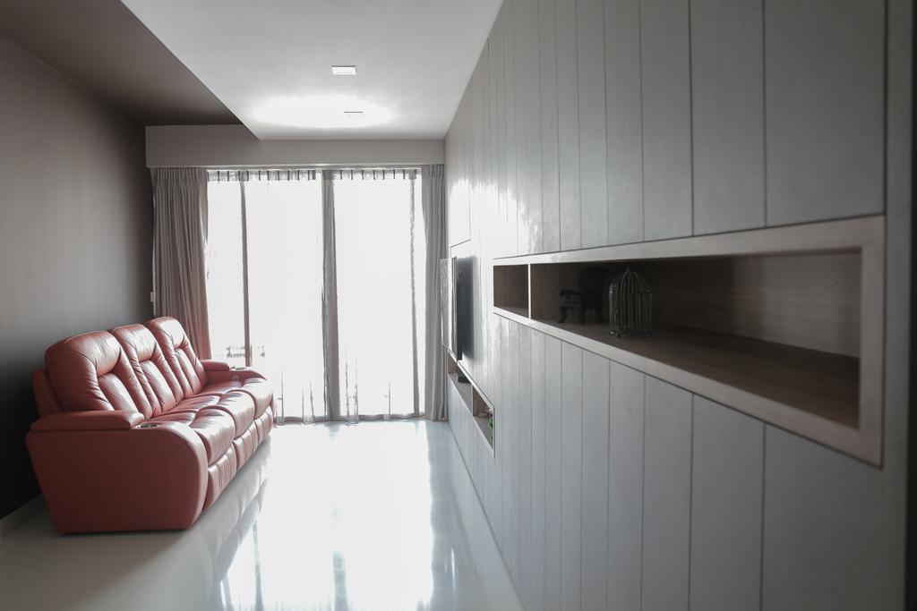 Contemporary, Condo, Living Room, Watercolours, Interior Designer, Forefront Interior, HDB, Building, Housing, Indoors, Loft, Bedroom, Interior Design, Room