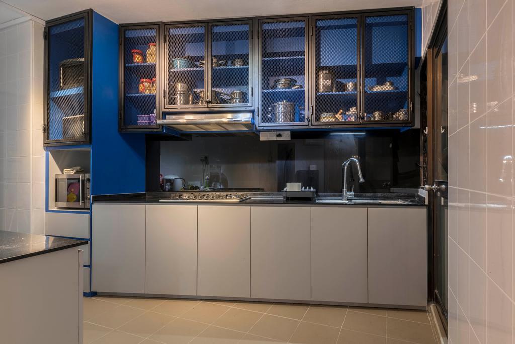 Industrial, HDB, Kitchen, Bukit Batok Avenue 6, Interior Designer, PHD Posh Home Design