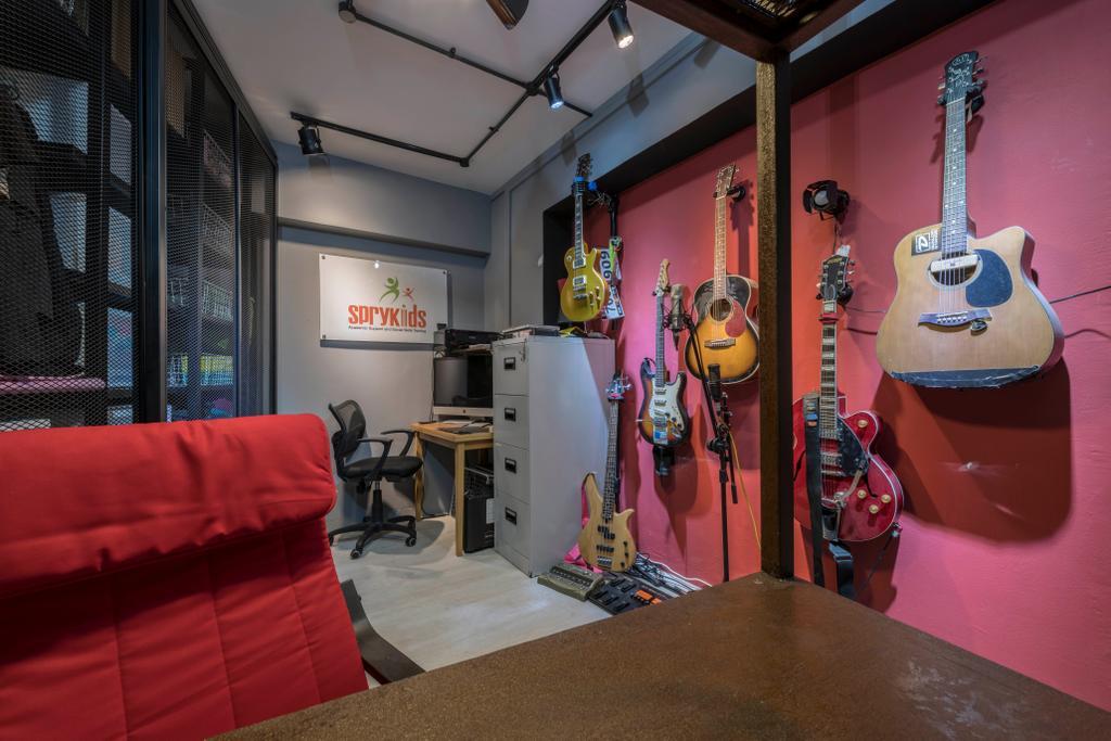 Industrial, HDB, Bukit Batok Avenue 6, Interior Designer, PHD Posh Home Design, Couch, Furniture, Guitar, Leisure Activities, Music, Musical Instrument, Electric Guitar