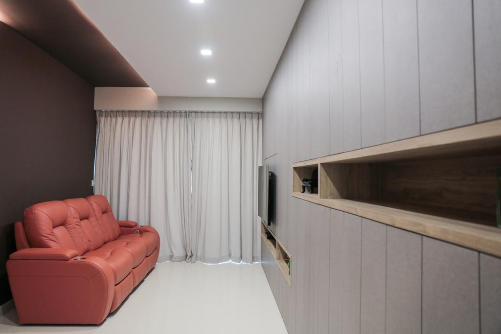 Contemporary, Condo, Living Room, Watercolours, Interior Designer, Forefront Interior, Indoors, Interior Design, HDB, Building, Housing, Loft
