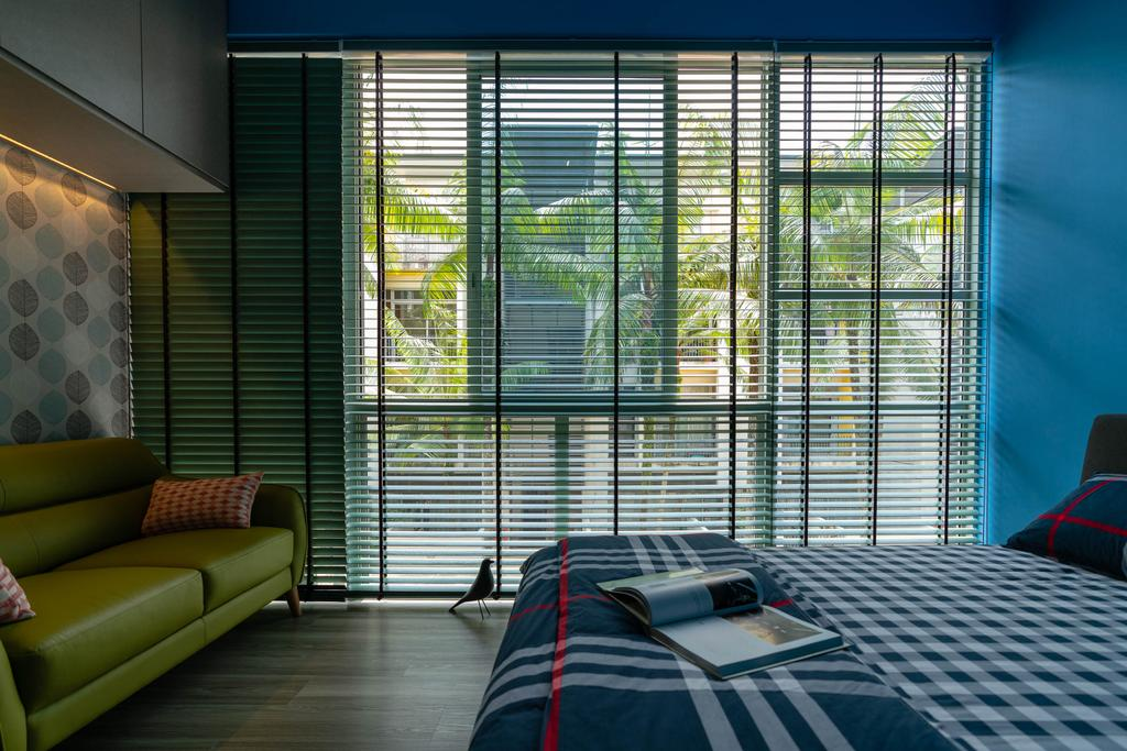 Contemporary, Condo, Bedroom, Lighthouse, Interior Designer, Artmuse Interior, HDB, Building, Housing, Indoors, Couch, Furniture