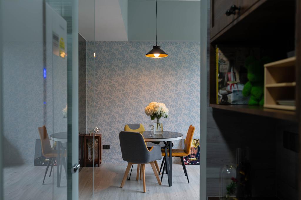 Contemporary, Condo, Dining Room, Lighthouse, Interior Designer, Artmuse Interior, Chair, Furniture, Indoors, Interior Design, Room, Dining Table, Table