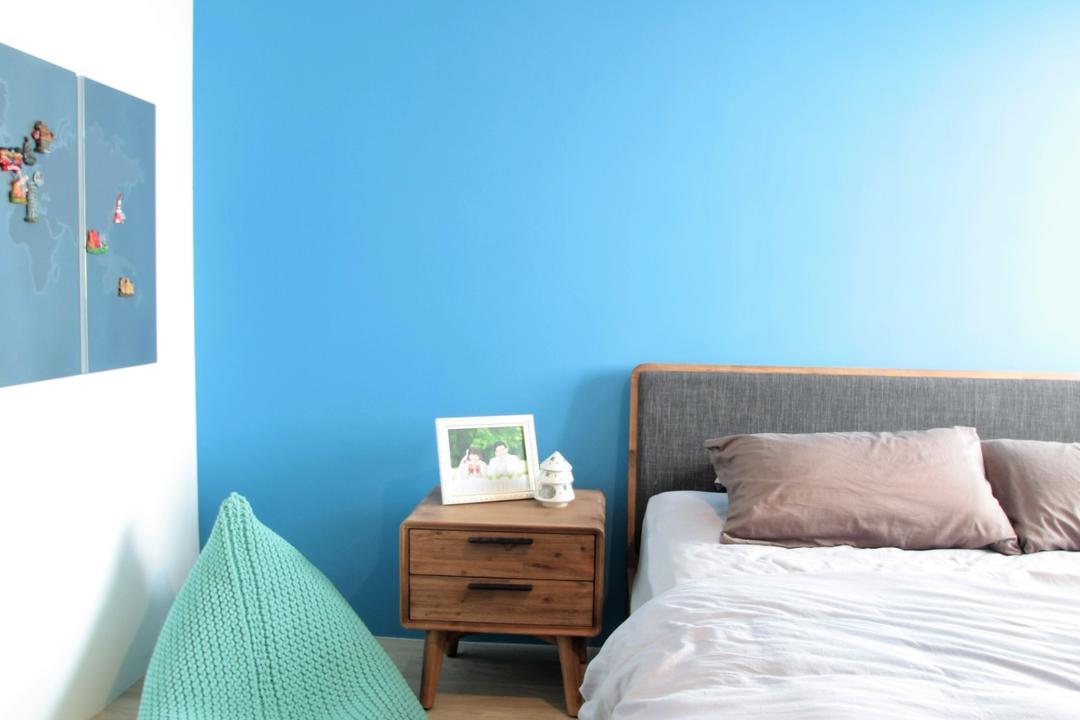 Ghim Moh Link, Intrigue-d Design Consultancy, Modern, Bedroom, HDB, Indoors, Interior Design, Room, Drawer, Furniture, Bed