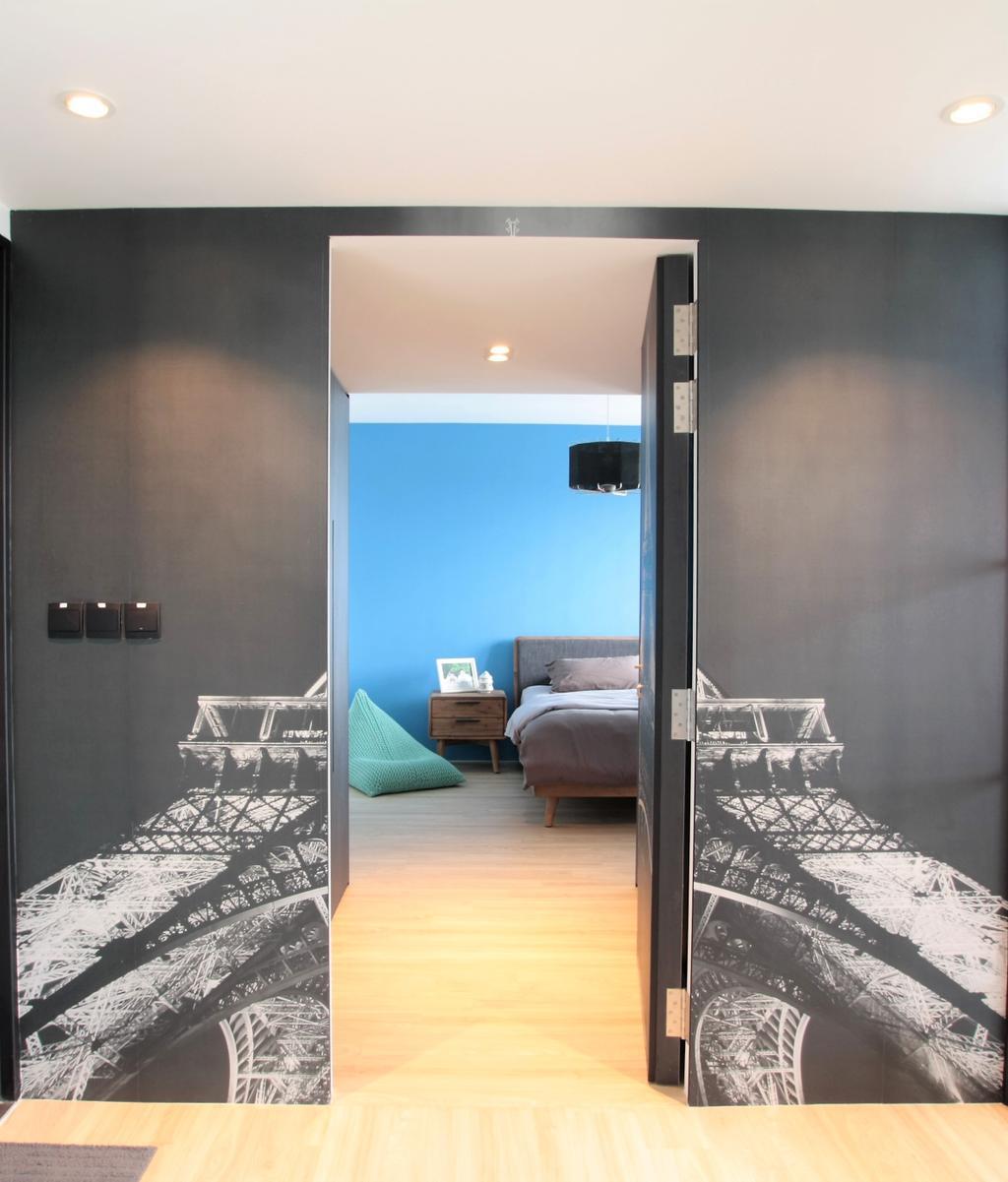 Modern, HDB, Bedroom, Ghim Moh Link, Interior Designer, Intrigue-d Design Consultancy, Indoors, Interior Design, Room, Aircraft, Airplane, Transportation