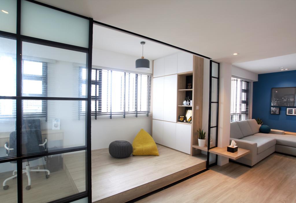 Modern, HDB, Study, Ghim Moh Link, Interior Designer, Intrigue-d Design Consultancy, Indoors, Interior Design