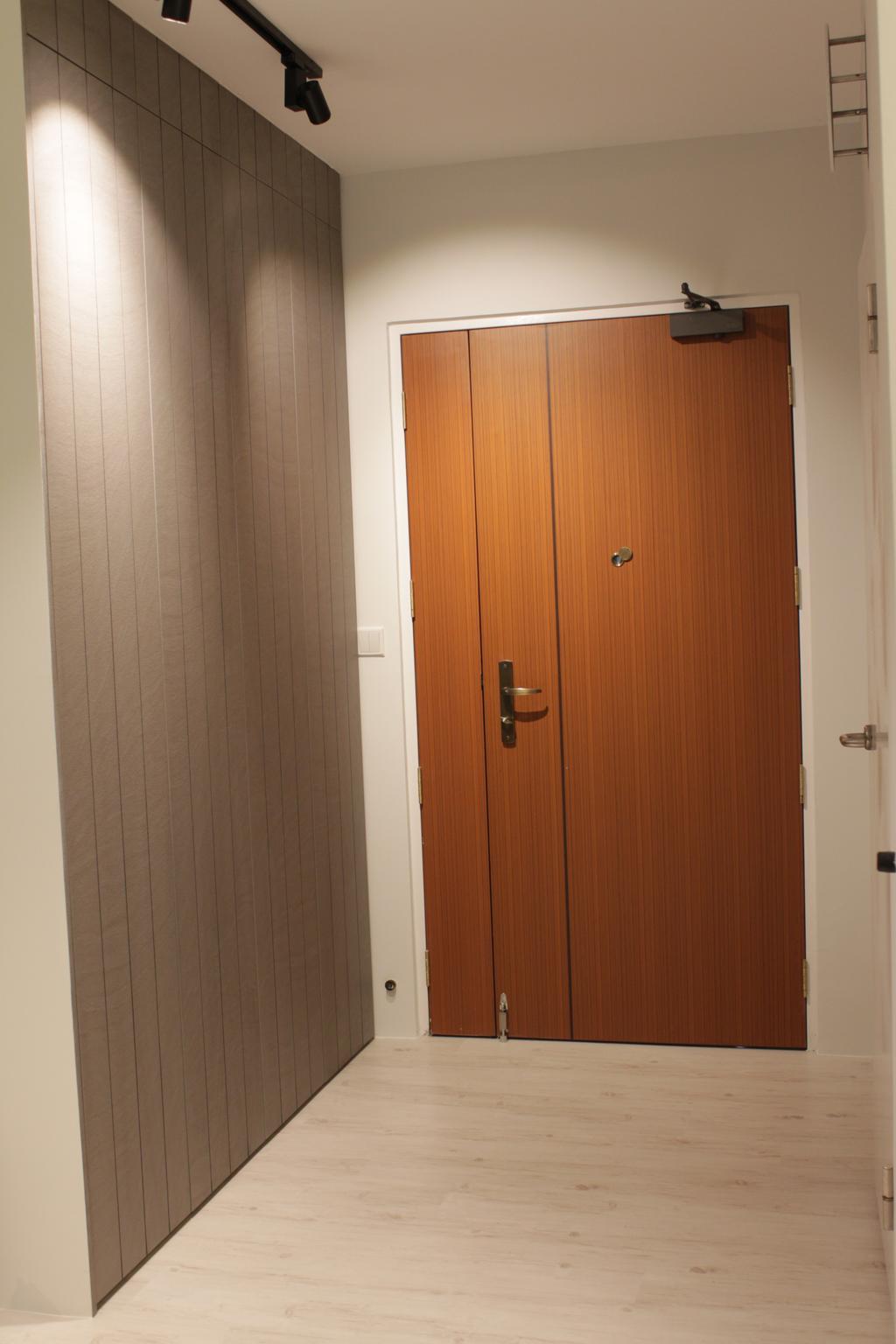 Contemporary, HDB, Rivervale Crescent (Block 164B), Interior Designer, Forefront Interior, Door, Folding Door