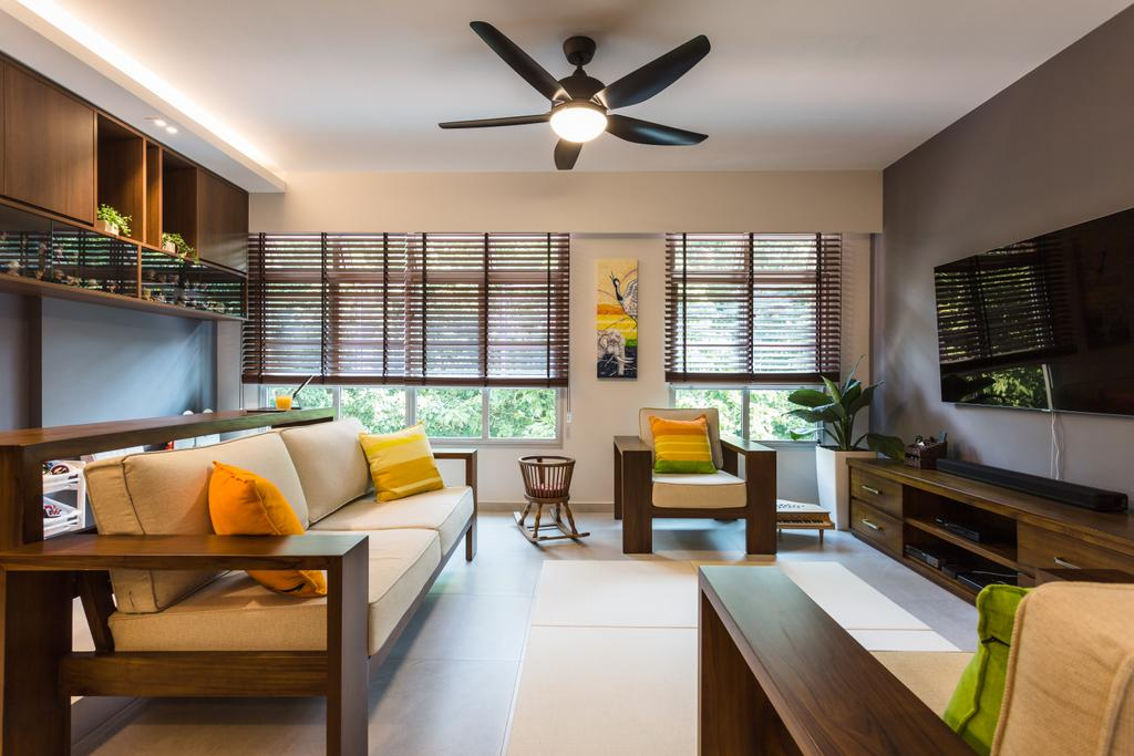 Eclectic, HDB, Living Room, Park Grove, Interior Designer, Schemacraft, Light Fixture, Curtain, Home Decor, Window, Window Shade, Dining Room, Indoors, Interior Design, Room, Chair, Furniture, Flora, Jar, Plant, Potted Plant, Pottery, Vase
