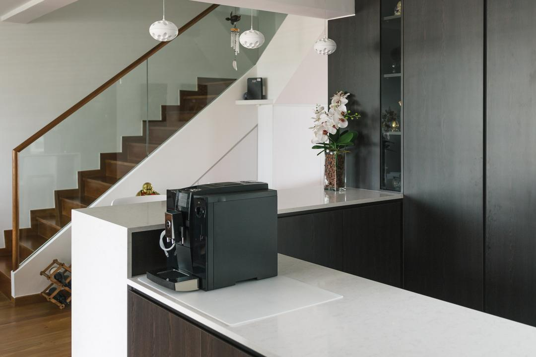 Bishan Summit, Schemacraft, Contemporary, HDB, Sink, Banister, Handrail, Staircase