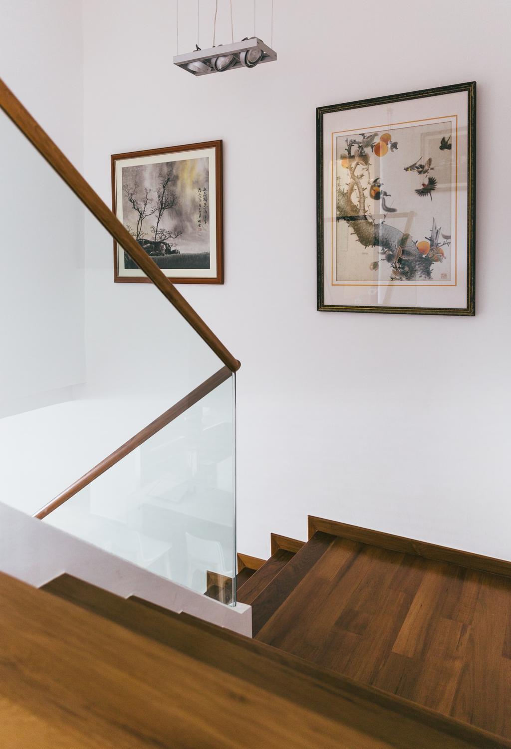Contemporary, HDB, Bishan Summit, Interior Designer, Schemacraft, Banister, Handrail, Staircase