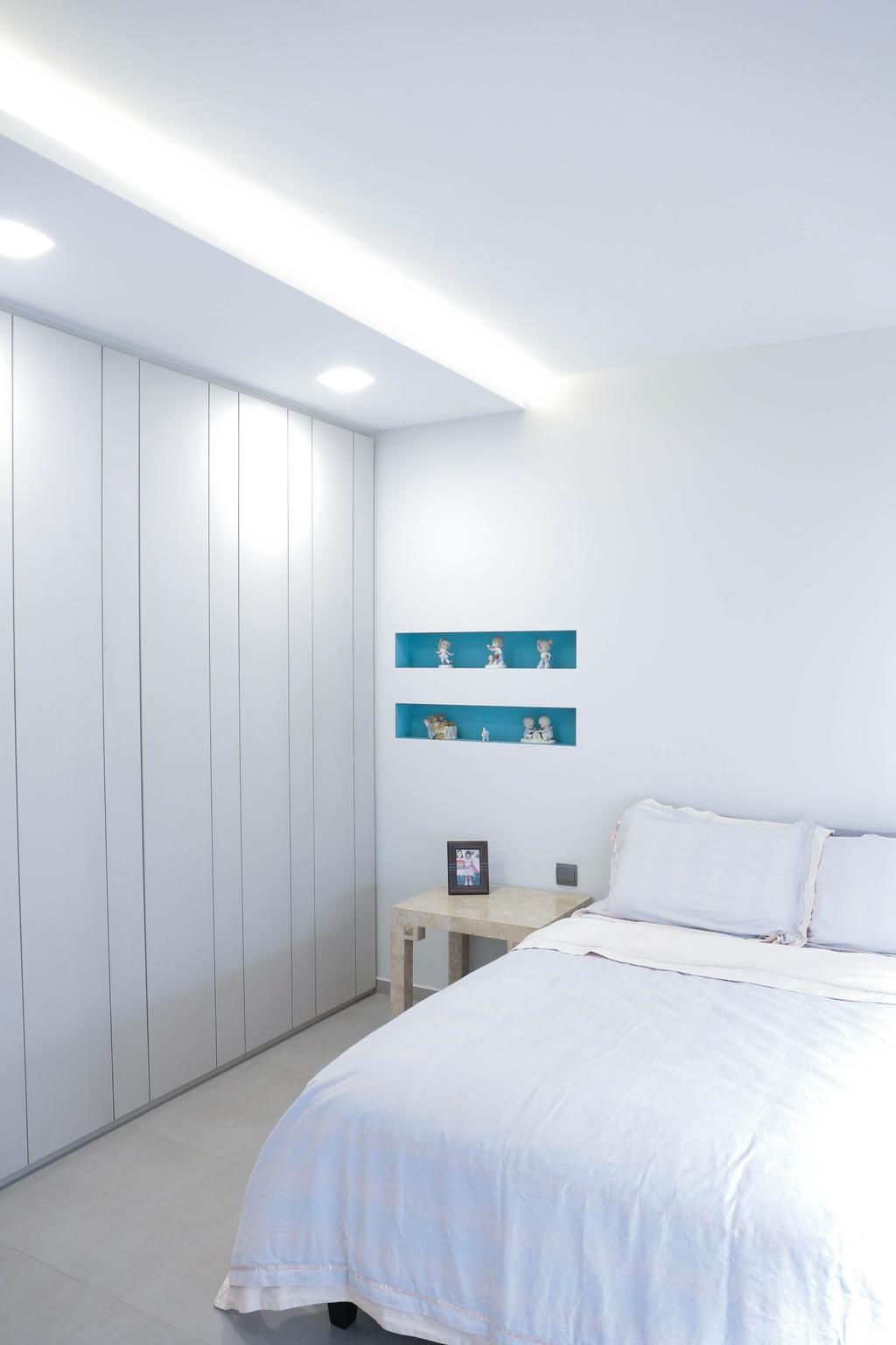 Minimalistic, HDB, Bedroom, Serangoon North (Block 506A), Interior Designer, Forefront Interior, Indoors, Interior Design, Room