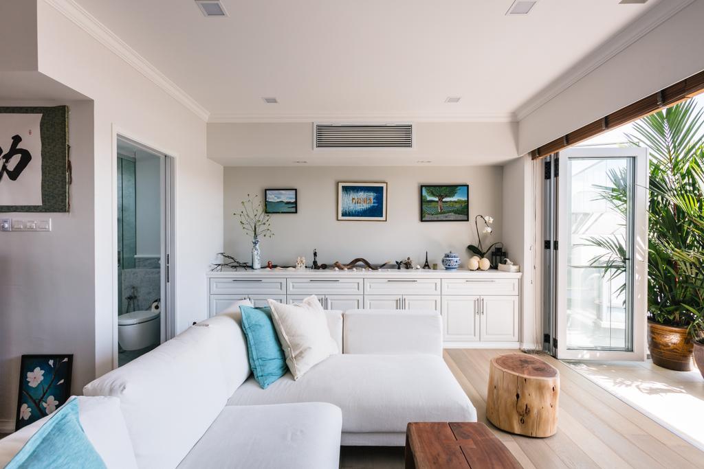 Contemporary, Condo, Living Room, Bluwaters 2, Interior Designer, Schemacraft, Flora, Jar, Plant, Potted Plant, Pottery, Vase, Indoors, Interior Design, Window