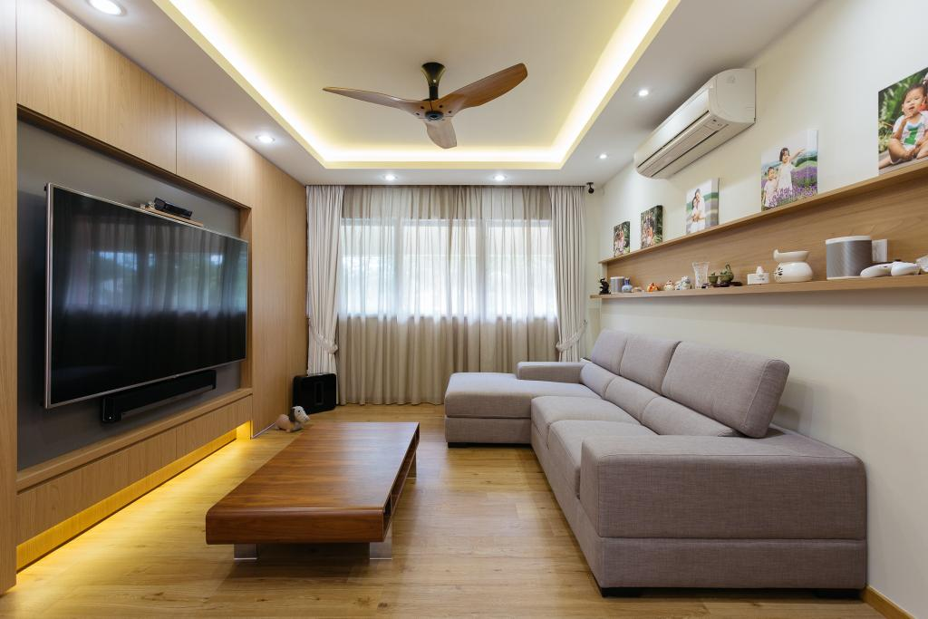 Contemporary, HDB, Living Room, Sin Ming Avenue, Interior Designer, Schemacraft, Propeller, Couch, Furniture, Indoors, Room, Flooring, Interior Design