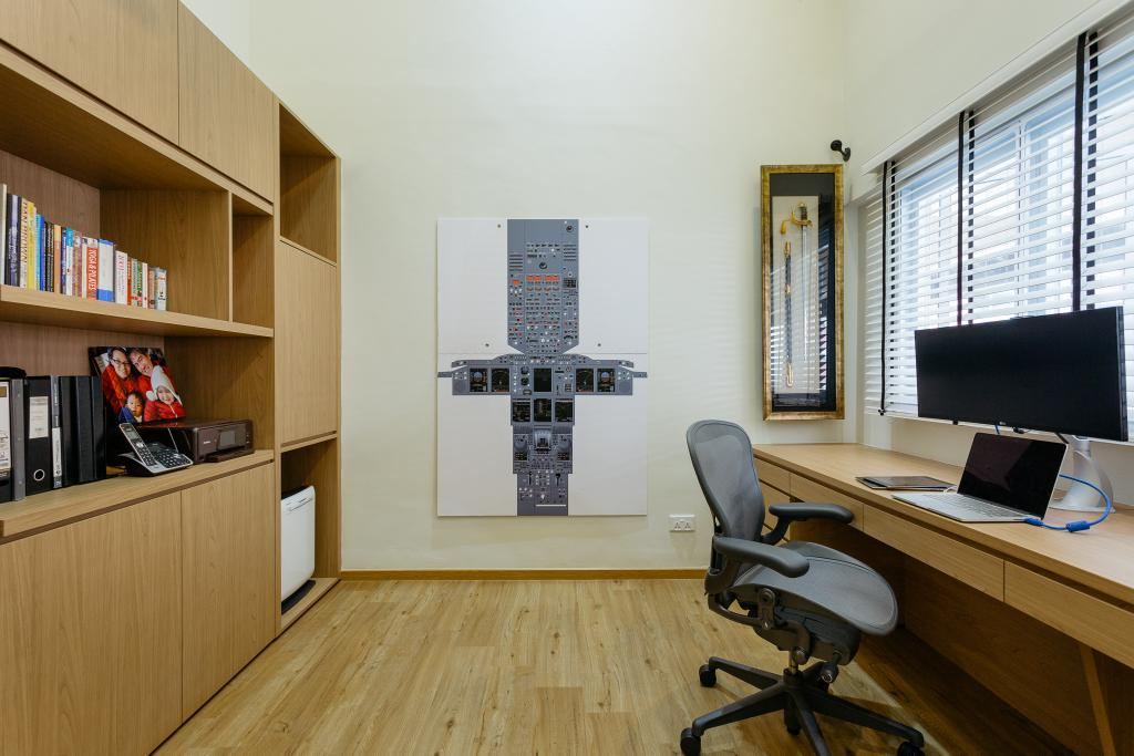 Contemporary, HDB, Study, Sin Ming Avenue, Interior Designer, Schemacraft, Plywood, Wood, Chair, Furniture, Building, Housing, Indoors