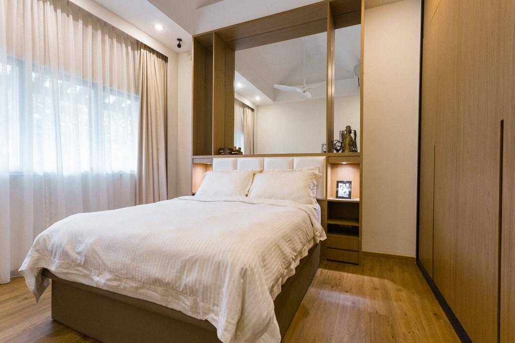 Contemporary, HDB, Bedroom, Sin Ming Avenue, Interior Designer, Schemacraft, Bed, Furniture, Indoors, Room, Interior Design