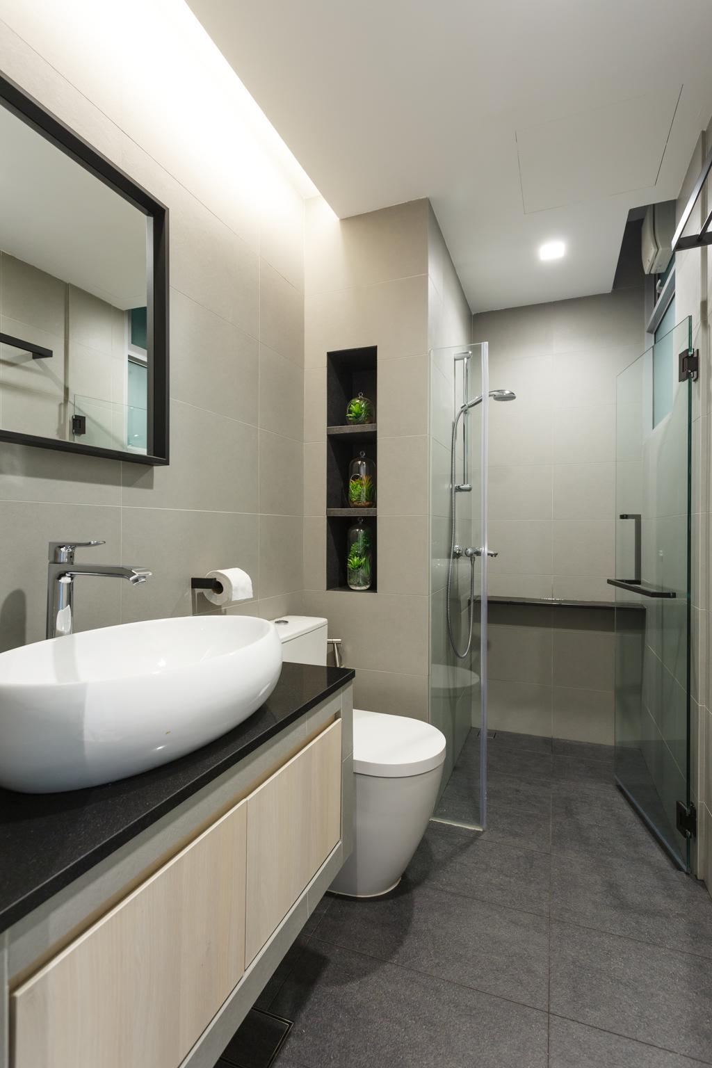 Scandinavian, Condo, Bathroom, The Marbella, Interior Designer, Schemacraft, Indoors, Interior Design, Room