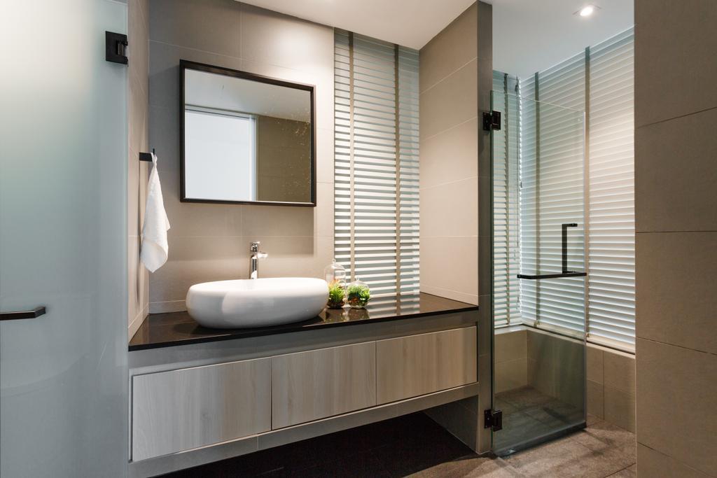 Scandinavian, Condo, Bathroom, The Marbella, Interior Designer, Schemacraft, Indoors, Interior Design, Room, Sink