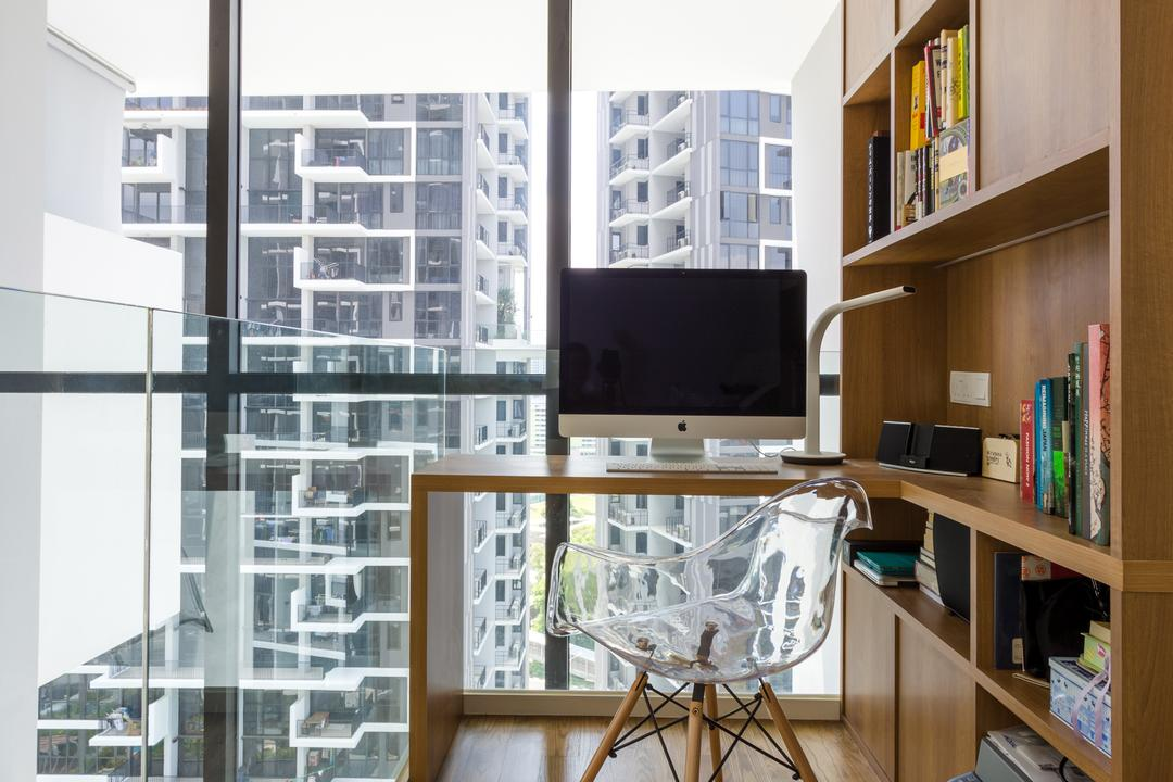 The Trilinq, Schemacraft, Contemporary, Study, Condo, Loft, Electronics, Lcd Screen, Monitor, Screen