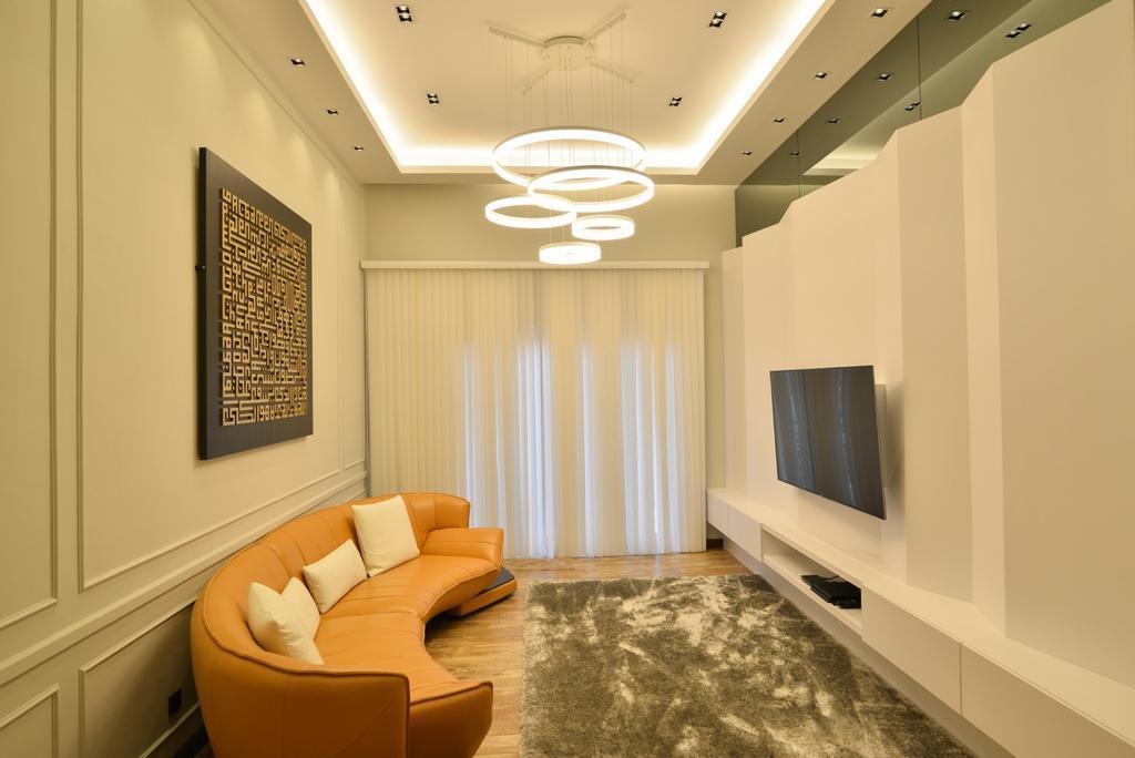 Transitional, Landed, Living Room, Pekan, Interior Designer, Klaasmen Sdn. Bhd., Plaque, Indoors, Interior Design, Room