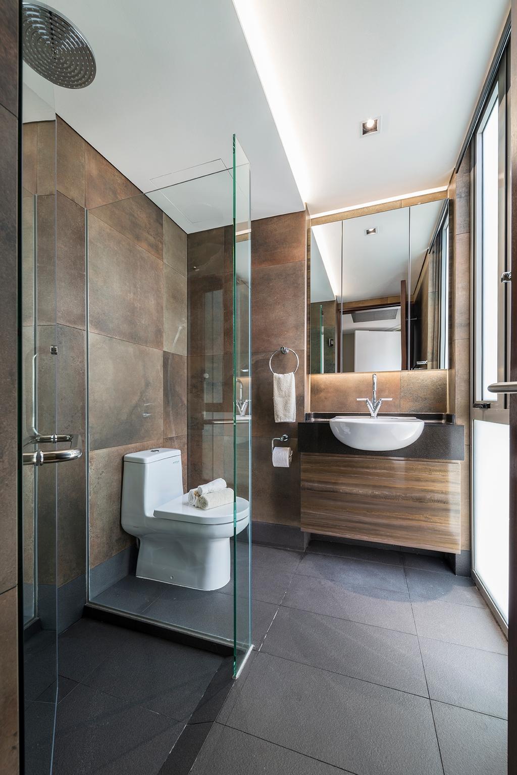 Landed, Bathroom, Dunsfold Drive, Interior Designer, erstudio, Tile