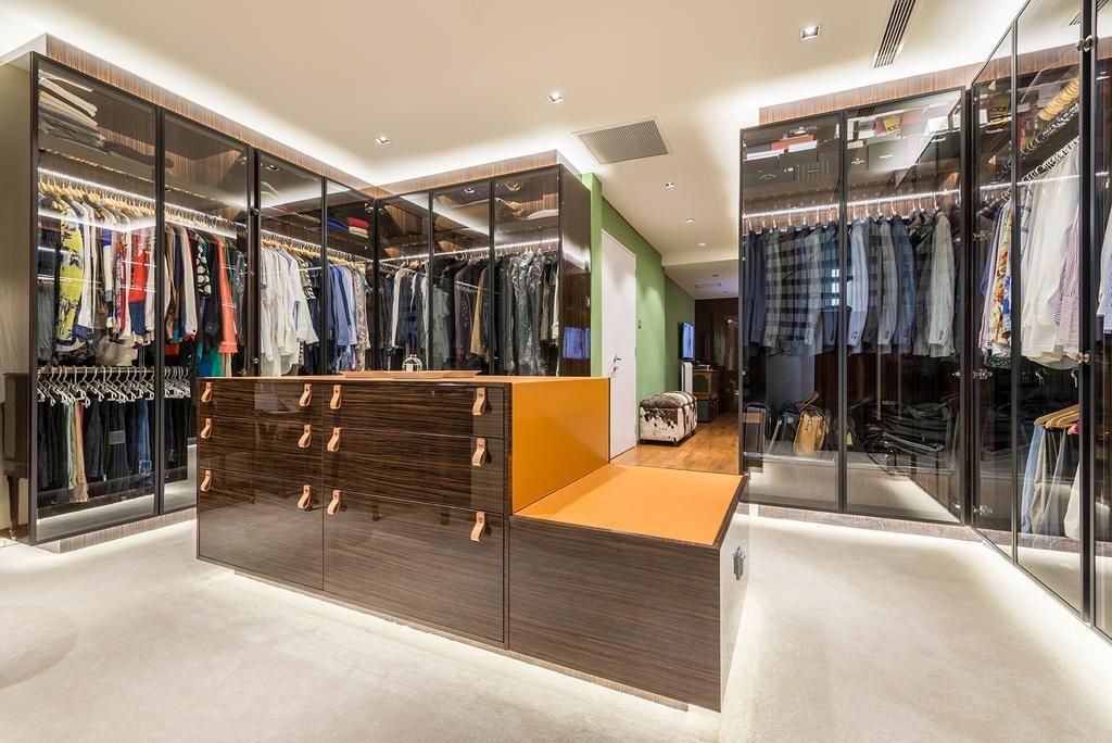 Landed, Bedroom, Dunsfold Drive, Interior Designer, erstudio, Dresser, Wardrobe, Walk In Wardrobe, Plywood, Wood