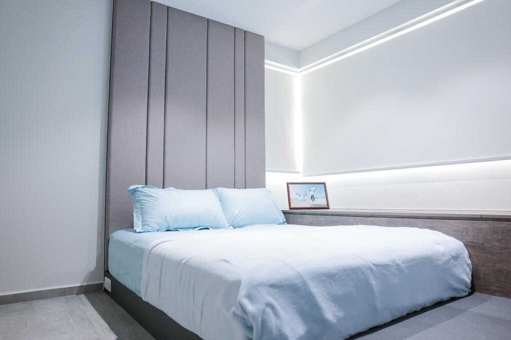 Minimalistic, HDB, Bedroom, Teban Gardens Road (Block 56), Interior Designer, Forefront Interior, Bed, Furniture