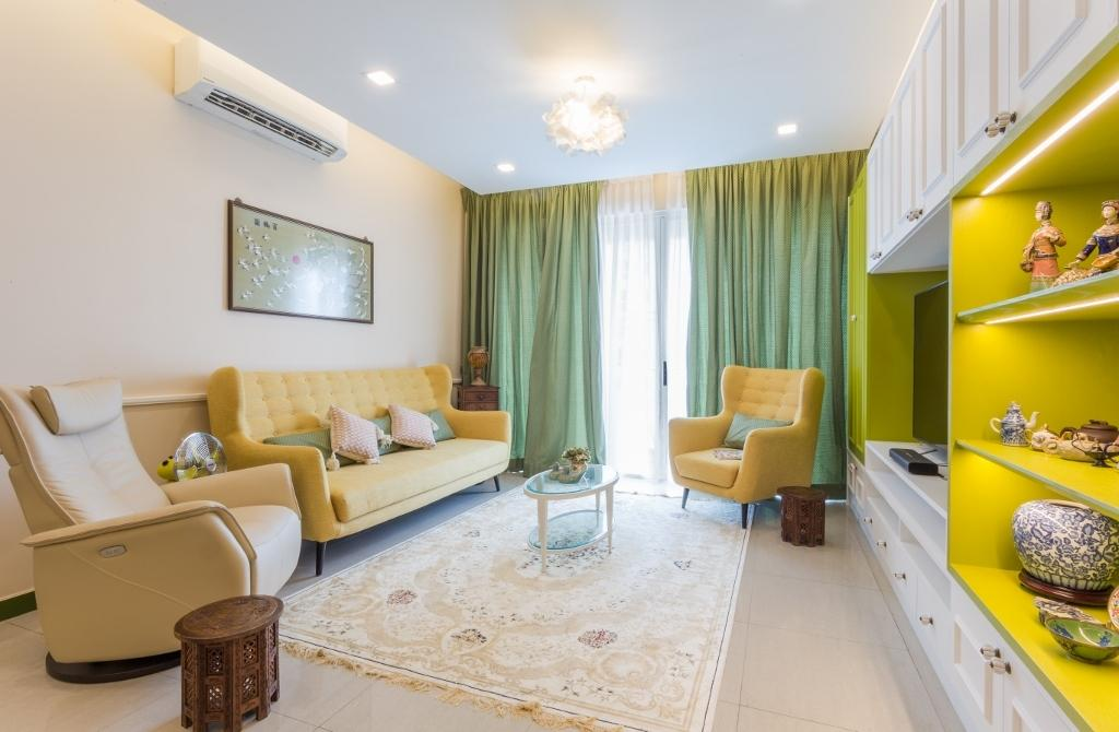 Eclectic, Condo, Living Room, Kiaramas Ayuria, Mont Kiara, Interior Designer, A Moxie Associates Sdn Bhd, Couch, Furniture, White Board, Chair, Bedroom, Indoors, Interior Design, Room