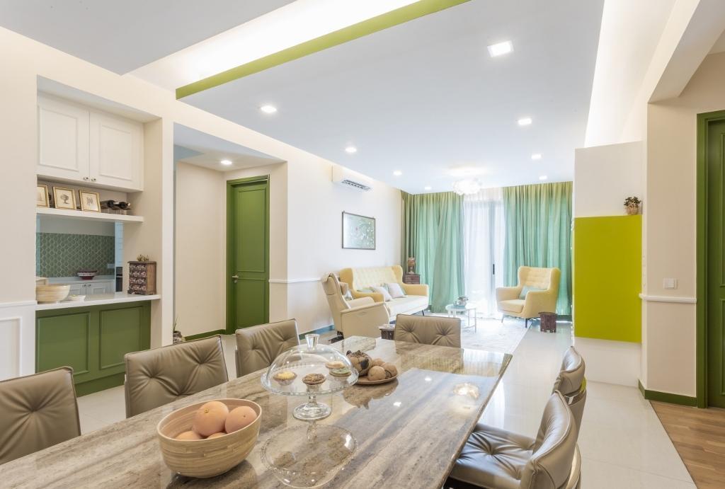 Eclectic, Condo, Dining Room, Kiaramas Ayuria, Mont Kiara, Interior Designer, A Moxie Associates Sdn Bhd, Couch, Furniture, Indoors, Interior Design, Room, Kitchen, Molding