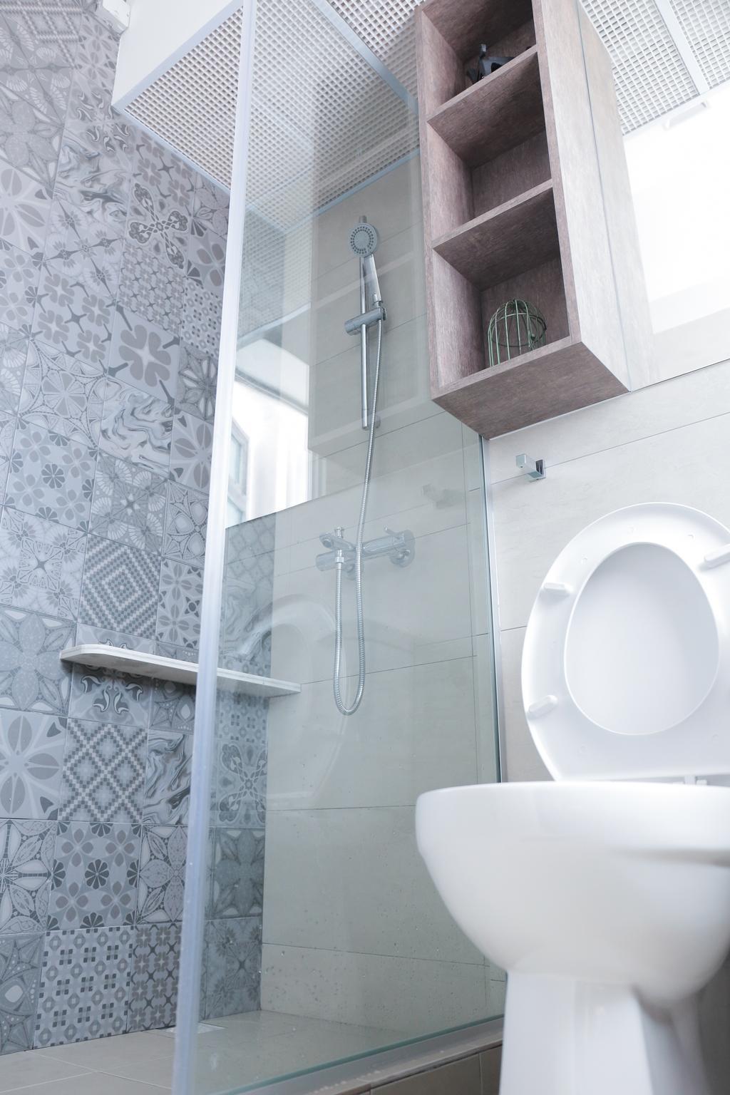 Minimalistic, HDB, Bathroom, Teban Gardens Road (Block 56), Interior Designer, Forefront Interior, Toilet, Paper