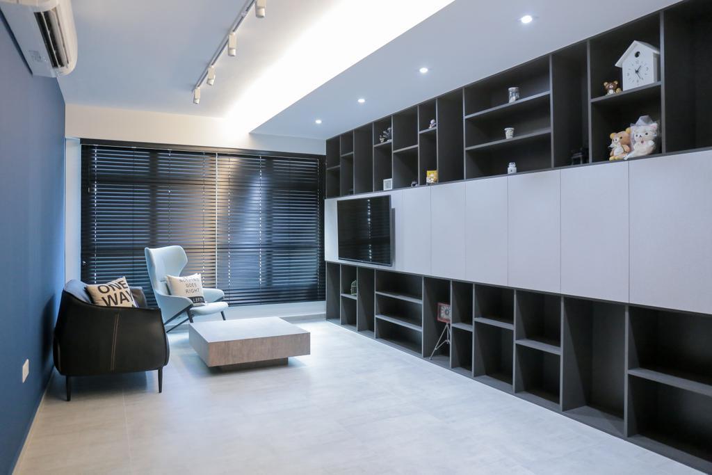 Minimalistic, HDB, Living Room, Teban Gardens Road (Block 56), Interior Designer, Forefront Interior, Indoors, Interior Design, Chair, Furniture