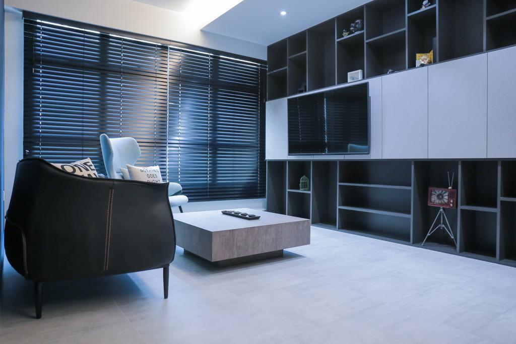 Minimalistic, HDB, Living Room, Teban Gardens Road (Block 56), Interior Designer, Forefront Interior, Indoors, Interior Design, Furniture, Sideboard