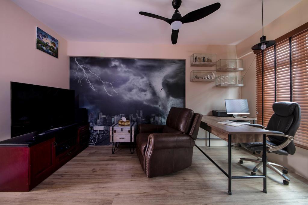 Industrial, HDB, Living Room, Bukit Batok West Avenue 6, Interior Designer, Glamour Concept
