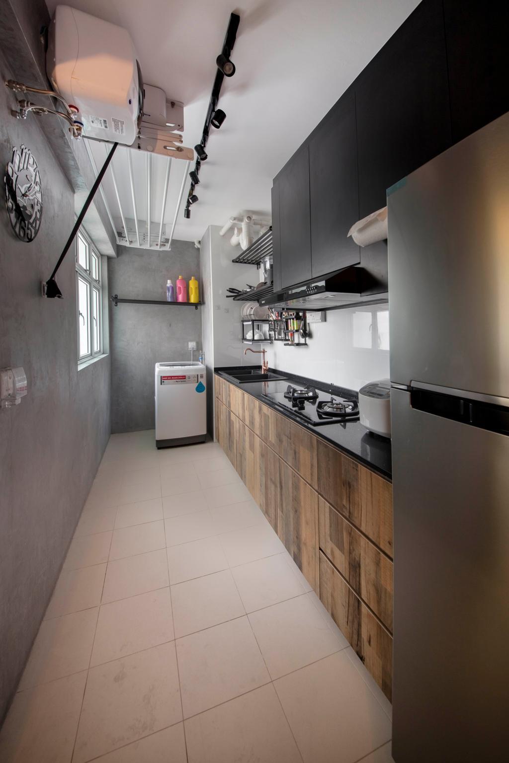 Industrial, HDB, Kitchen, Bukit Batok West Avenue 6, Interior Designer, Glamour Concept