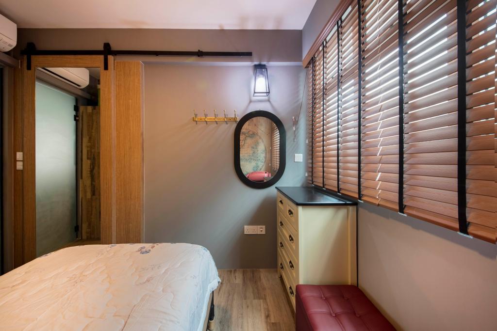 Industrial, HDB, Bedroom, Bukit Batok West Avenue 6, Interior Designer, Glamour Concept