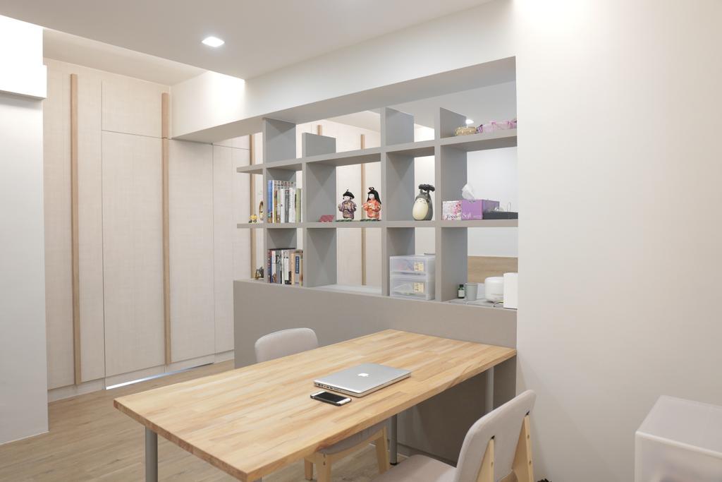 Minimalistic, HDB, Bedroom, Upper Serangoon View (Block 477B), Interior Designer, Forefront Interior, Dining Table, Furniture, Table