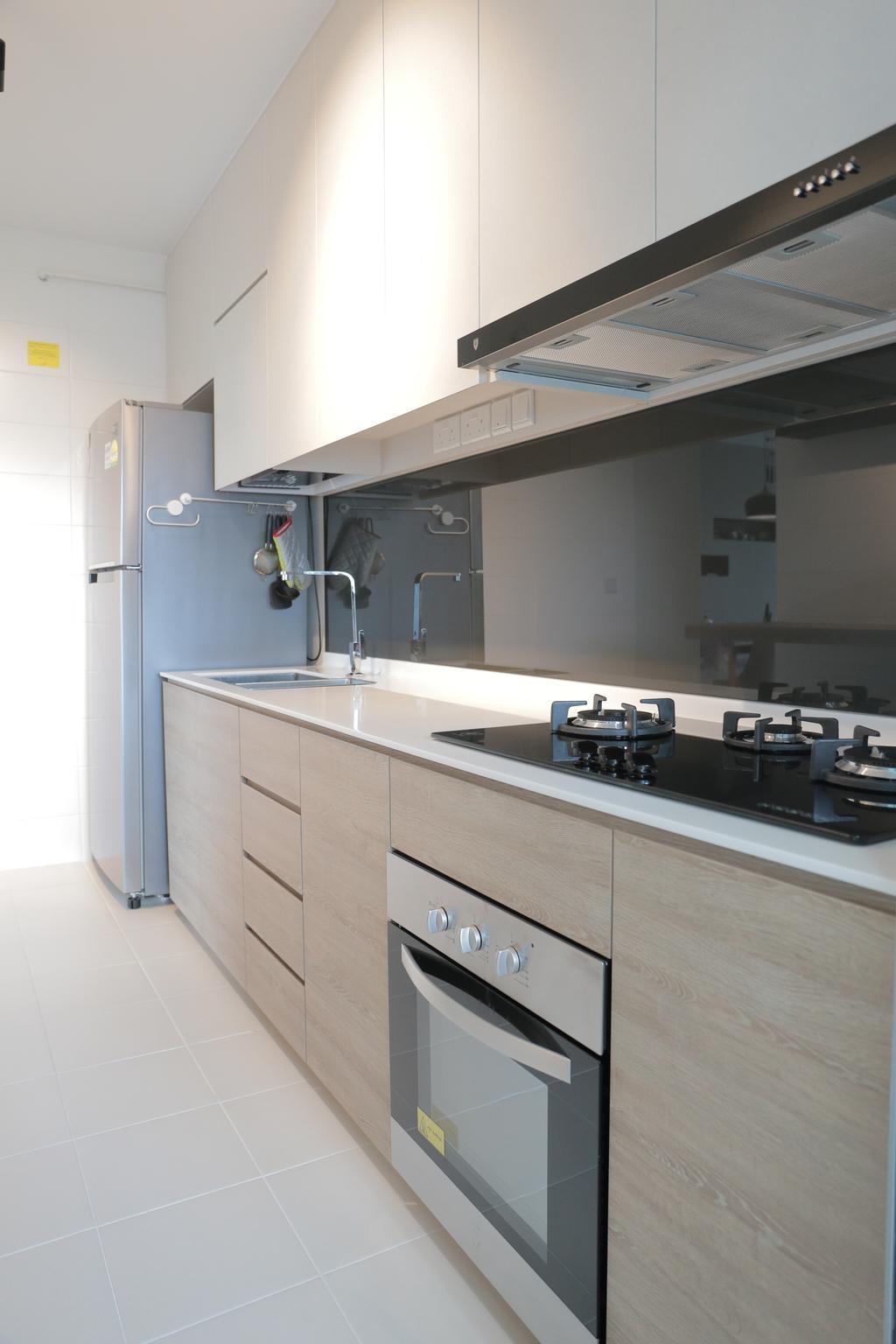 Minimalistic, HDB, Kitchen, Upper Serangoon View (Block 477B), Interior Designer, Forefront Interior, Indoors, Interior Design, Room