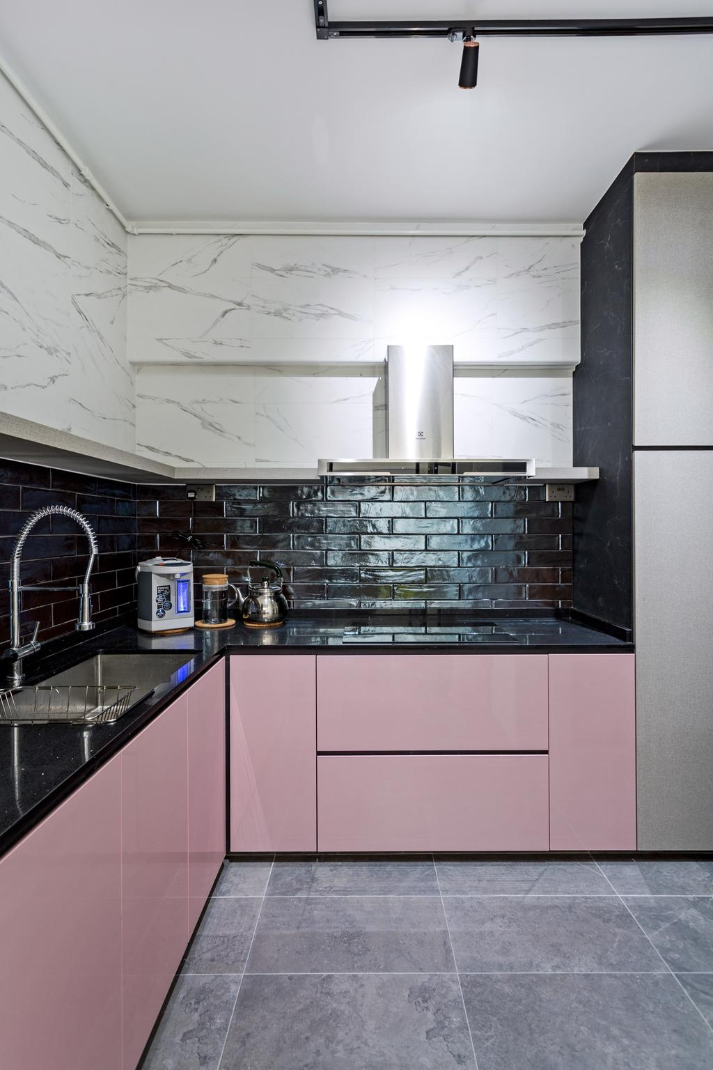 Eclectic, HDB, Kitchen, Jurong West Street 65, Interior Designer, New Age Interior
