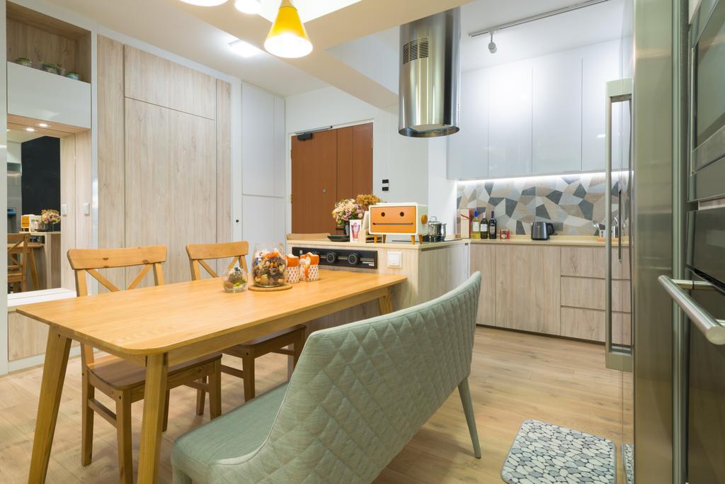 Contemporary, HDB, Dining Room, Lorong Limau, Interior Designer, Meter Square