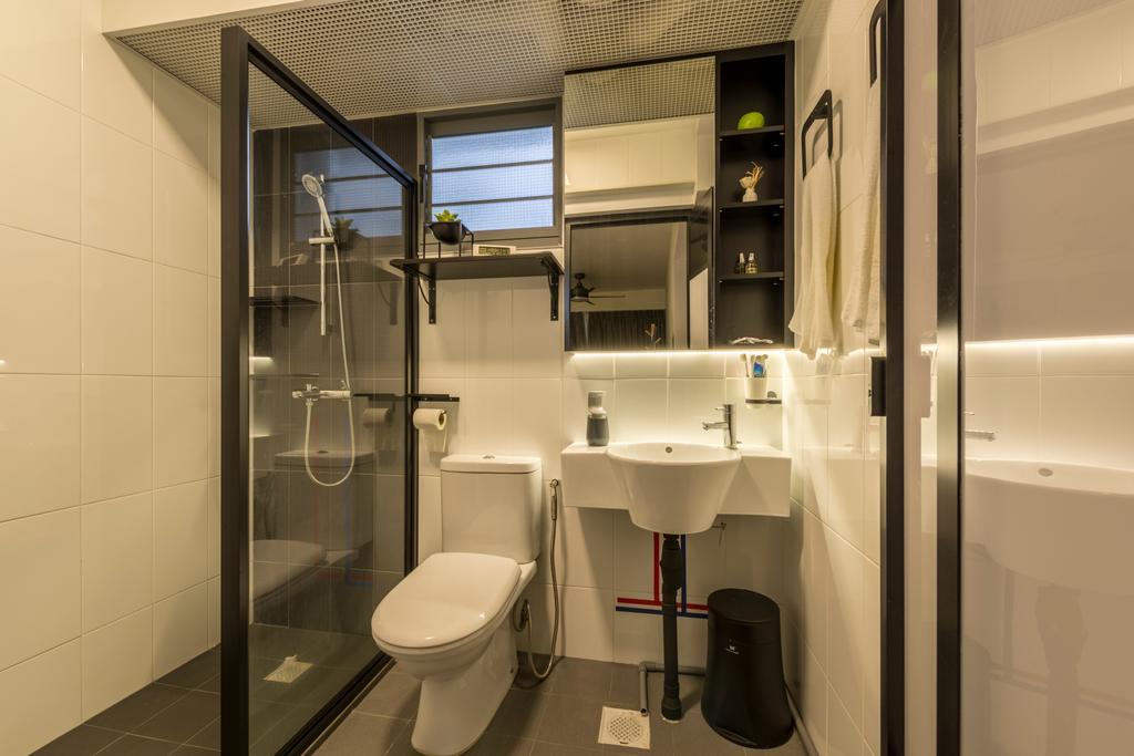 Modern, HDB, Bathroom, Punggol Way, Interior Designer, Meter Square