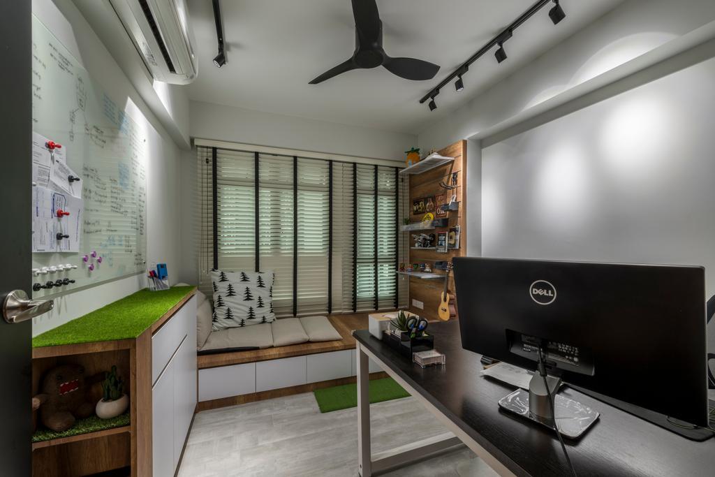 Modern, HDB, Study, Punggol Way, Interior Designer, Meter Square