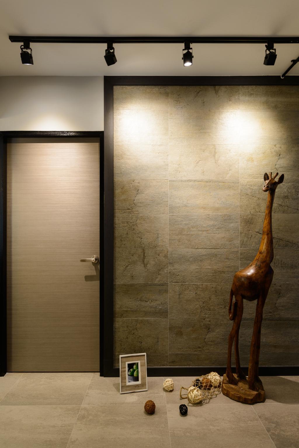 Scandinavian, HDB, Living Room, Pasir Ris (Block 554), Interior Designer, Kome Interior, Industrial, Art, Sculpture