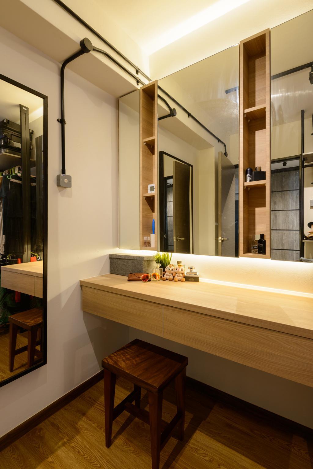 Scandinavian, HDB, Bathroom, Pasir Ris (Block 554), Interior Designer, Kome Interior, Industrial, Indoors, Interior Design, Couch, Furniture, Sink, Appliance, Electrical Device, Oven